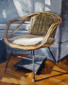 """Her Chair"" Acrylic on Panel 8 x 10 inches 2015"