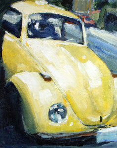 j farnsworth painting of volks wagen beetle vw