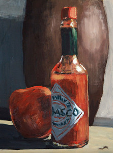 j farnsworth acrylic painting of tabasco