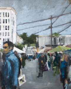 j farnsworth painting of farmers market sf