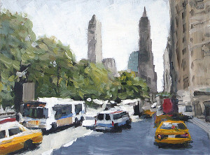 j farnsworth painting of NYC