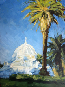 j farnsworth painting of the conservatory of flowers