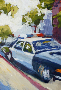 j farnsworth painting of a police car