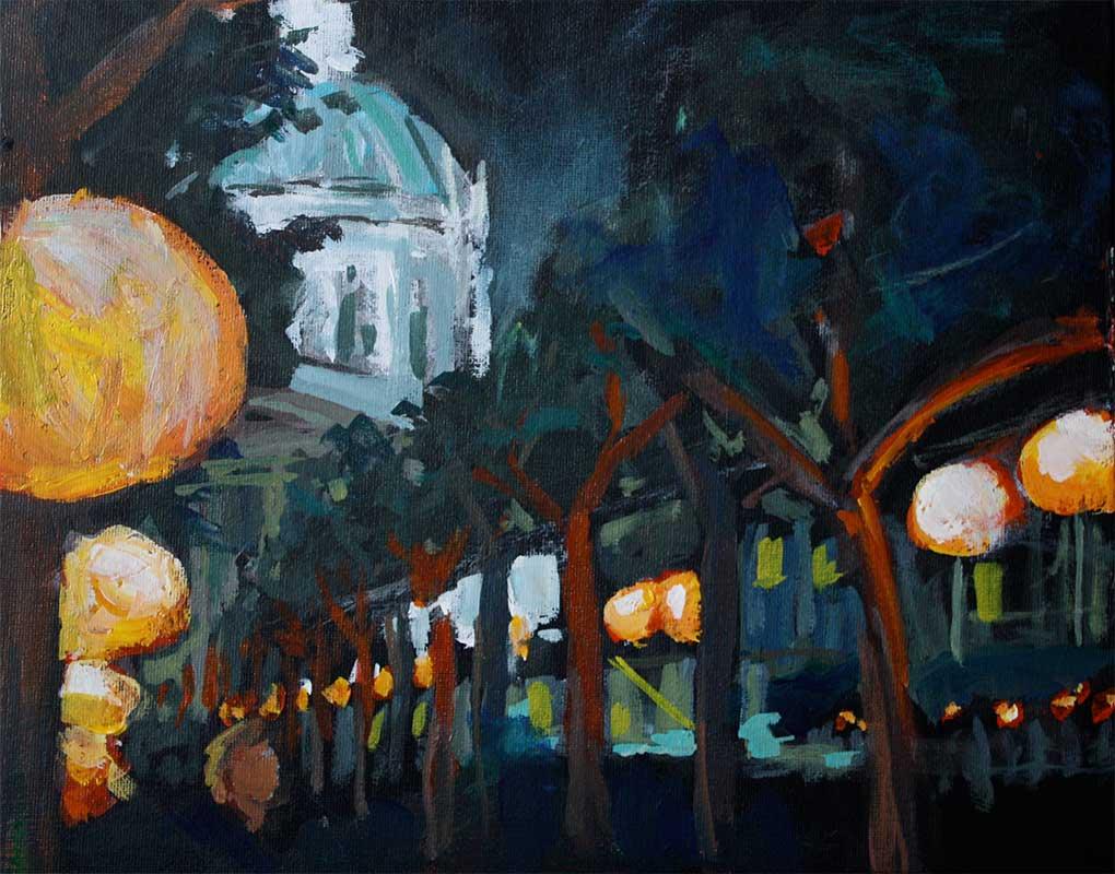 j farnsworth painting of city hall
