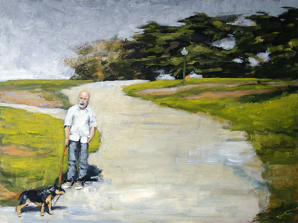 """""""Dog Side""""<br/>Acrylic on Panel, 2014<br/>36x24 inches"""