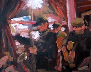 j farnsworth painting of jazz band
