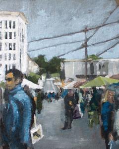 j farnsworth painting of farmers market sf