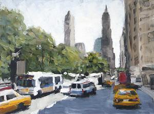 j farnsworth painting of NYC