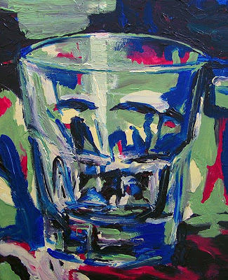 """Poster Glass""<br/> 16 x 20 inches<br/> acrylic on canvas<br/>"