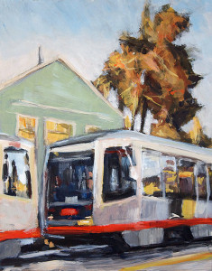 j farnsworth painting of san francisco muni