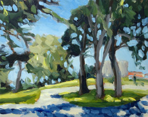 j farnsworth painting of the park